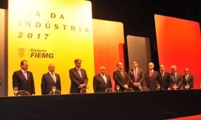 Presidente da Federaminas participa do evento de entrega do Mérito Industrial