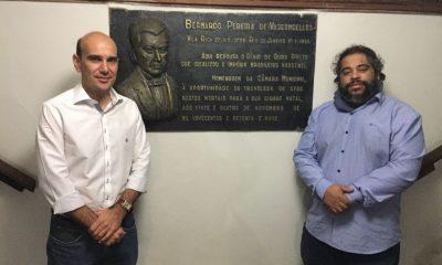Presidente da Câmara de Araxá visita Câmara Municipal de Ouro Preto