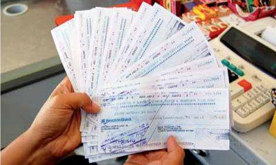 Aumenta o número de cheques devolvidos por falta de fundos