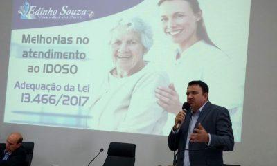Edinho Souza tribuna do plenário na Câmara dos Vereadores