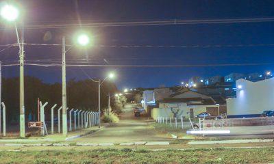Reduzido em 100% pontos de iluminação pública apagados