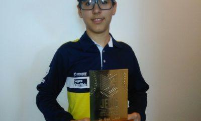 Enxadrista Araxaense Vitor Amorim é Campeão da Etapa Regional do JEMG 2017