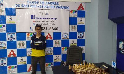 Enxadrista Vitor Amorim Frois é campeão na cidade de São Sebastião do Paraíso