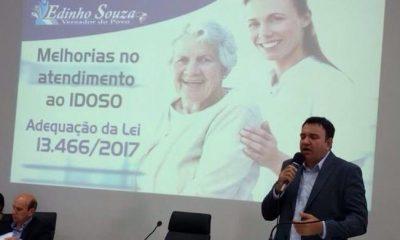 O Vereador Edinho Souza pede melhorias de atendimento aos idosos