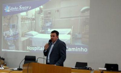 Vereador Edinho Souza na tribuna
