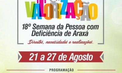 Vem aí a 18° Semana da Pessoa com Deficiência de Araxá De 21 a 27 de Agosto/2017