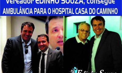 O vereador Edinho Souza consegue uma ambulância para o hospital Casa do Caminho
