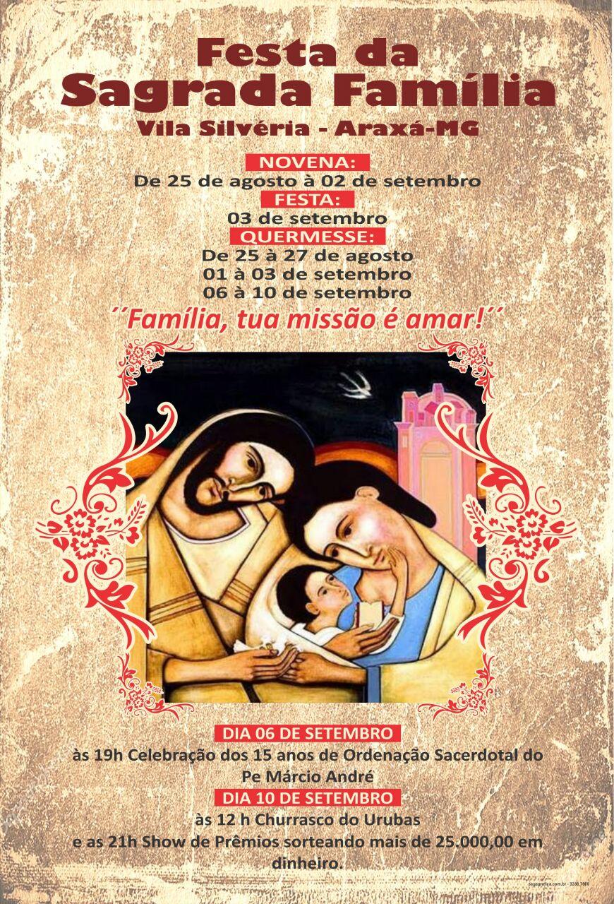 TRADIÇÃO: Comunidade prepara Festa em louvor à Sagrada Família