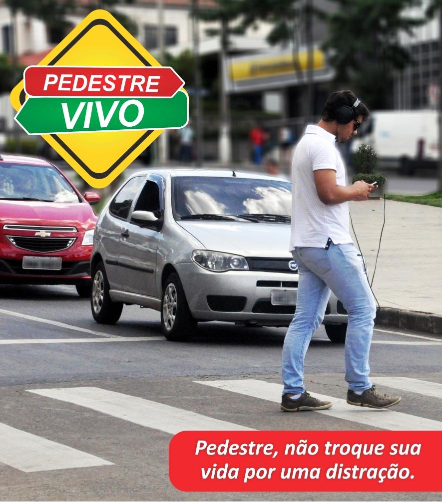 Projeto leva conceitos de respeito às sinalizações de trânsito para o pedestre