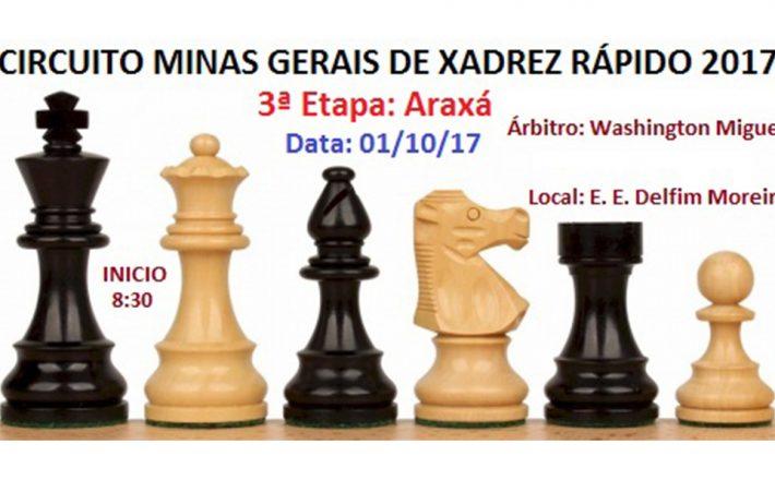 Liga de Xadrez de Patos de Minas organiza Etapa Araxá do Circuito MG