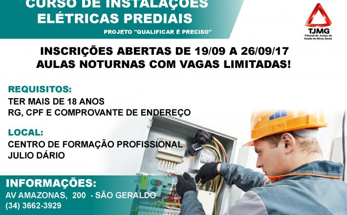 Cursos: Instalações Elétricas Prediais e Construção Civil – Centro Julio Dário