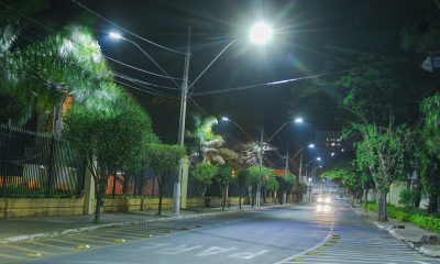 Ampliado número de vias e praças com iluminação de LED