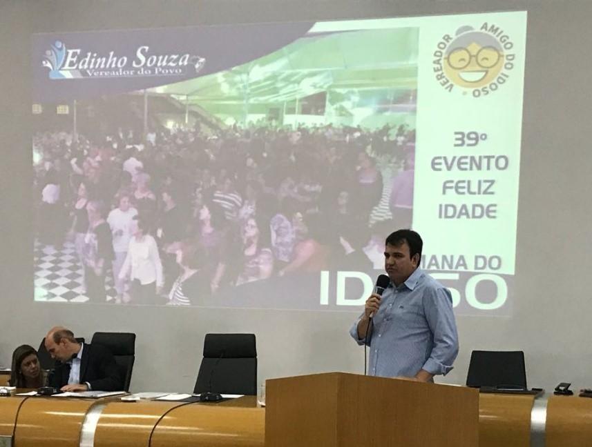 Vereador Edinho de Souza usou a tribuna nessa última terça – feira(10)