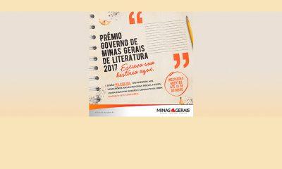 Últimos dias para se inscrever no Prêmio Governo de Minas Gerais de Literatura 2017