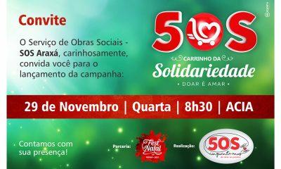 Campanha em prol do SOS Araxá será lançada na próxima quarta-feira