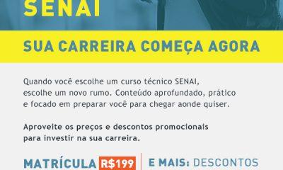 O SENAI Araxá está com inscrições abertas para pré-matrículas dos Cursos Técnico em Eletromecânica e Técnico em Eletrotécnica