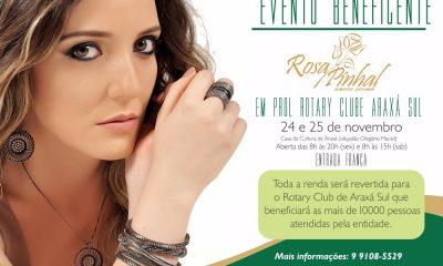 Evento beneficente em prol do Rotary Araxá com Rosa Pinhal Semijoias