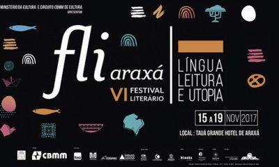 Fliaraxá 2017 reunirá escritores brasileiros e lusófonos no Tauá Grande Hotel de Araxá, de 15 a 19 de novembro