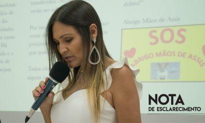 Vereadora esclarece sobre o fechamento do Abrigo Mãos de Assis e ofensas das redes sociais