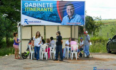 Parque das Flores recebeu o Gabinete Itinerante do vereador Robson Magela