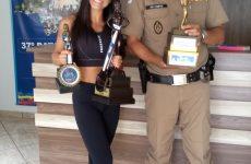 Policial Militar é campeã absoluta em Campeonato Internacional de Fisiculturismo