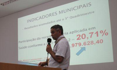 Audiência Pública apresenta Prestação de contas da Secretaria de Saúde