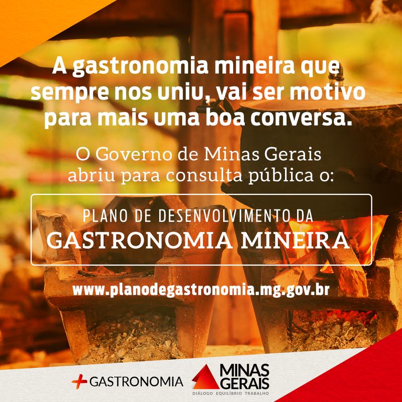 Plano de Gastronomia de Minas Gerais é aberto à consulta pública