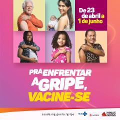 Campanha de vacinação contra gripe começa na próxima segunda