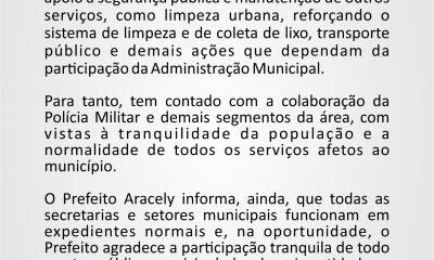 Comunicado Prefeitura Municipal de Araxá