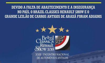 Brazil Classics Renault Show 2018 confirma nova data