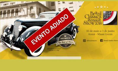 """""""Brazil Classics Renault Show 2018"""" é adiado"""