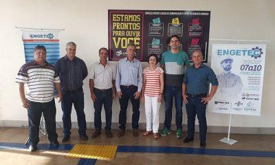 Presidência do Crea-Minas faz visitas em Araxá e amplia as discussões sobre engenharia