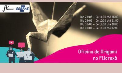 Oficina de Origamis estimula empreendedorismo e imaginação no Fliaraxá
