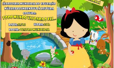 Teatro divulga o Fliaraxá para alunos da educação infantil e fundamental