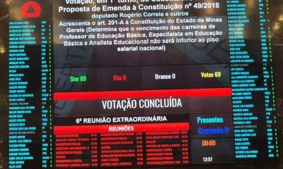 Plenário aprova PEC do piso nacional para educação