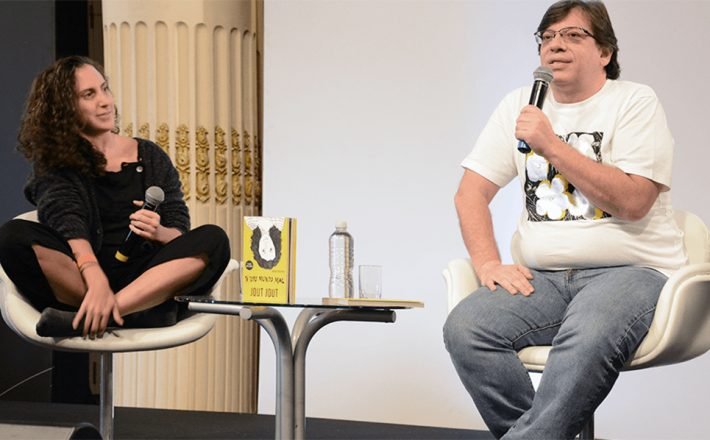 Jout Jout encerra debates do Fliaraxá com humor