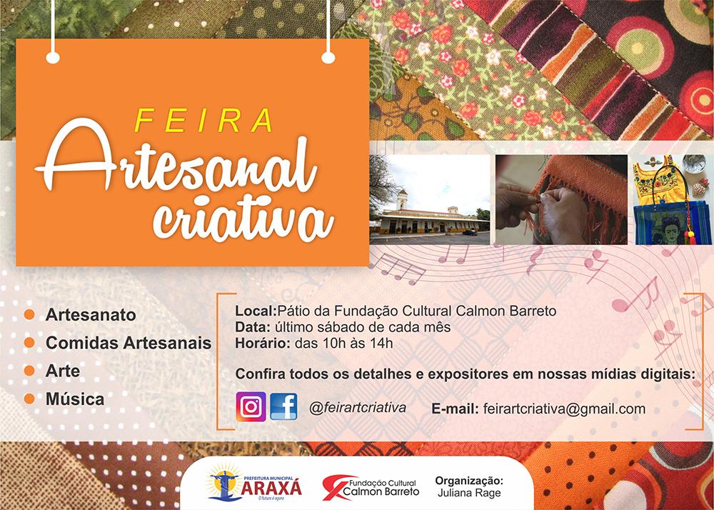 Feira Artesanal Criativa é promovida em Araxá