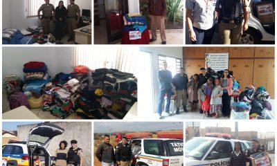 Polícia Militar e parceiros realizam campanha do agasalho em Araxá