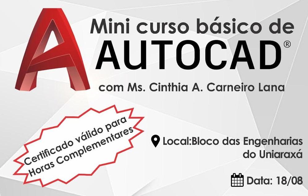 CREA JR realizará curso básico de AUTOCAD no UNIARAXÁ