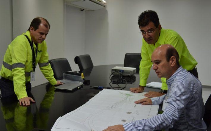 Após reunião com diretoria da Mosaic, Fabiano visita obras na Avenida Arafértil, realizadas pela empresa