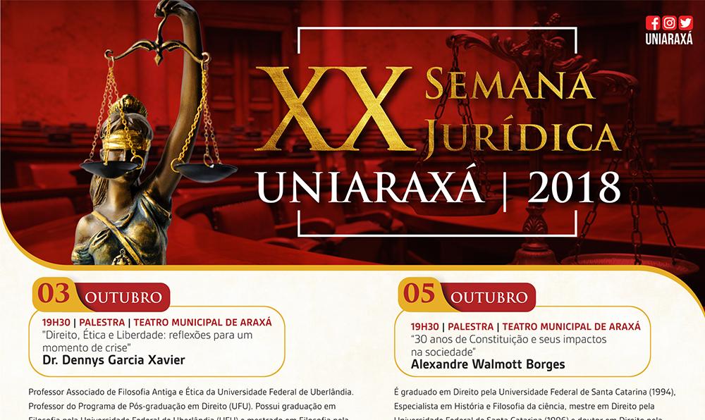 XX Semana Jurídica do UNIARAXÁ