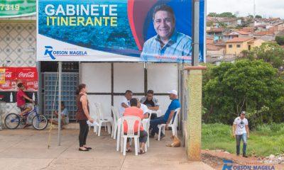 Robson Magela realiza Gabinete Itinerante na rua Pará