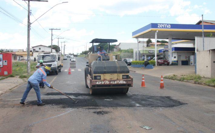 Prefeitura intensifica a Operação Tapa-Buracos em Araxá