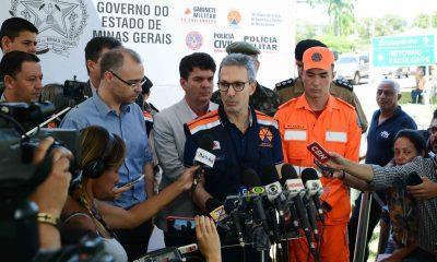 Governador Romeu Zema defende punição dos responsáveis e ressarcimento rápido das vítimas de Brumadinho