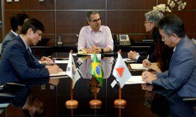 Governador Romeu Zema recebe embaixador da República da Coreia