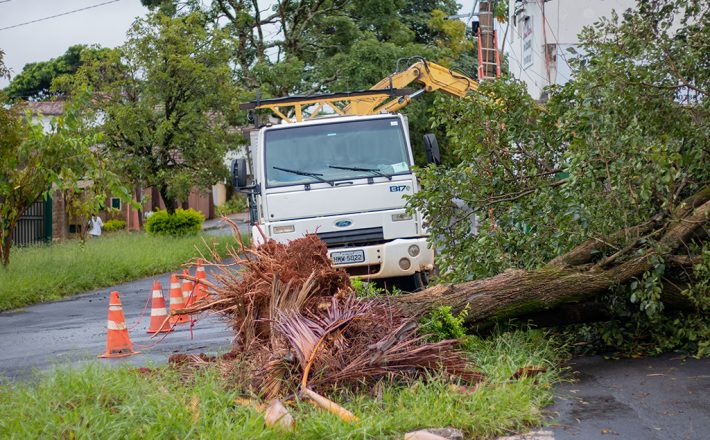 Administração Municipal mobilizou equipes em função do temporal