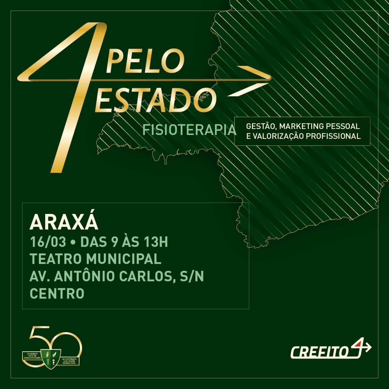 Comemoração aos 50 anos da Fisioterapia no país começará por Araxá
