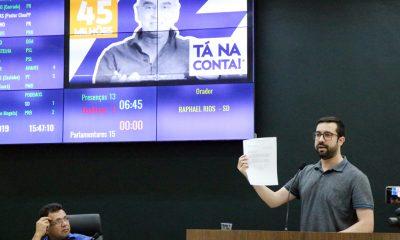Raphael Rios cobra informações sobre os R$ 45 milhões anunciados pelo deputado Mário Heringer para infraestrutura de Araxá