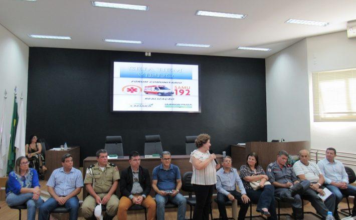 Fórum Comunitário debate a instalação do SAMU em Araxá