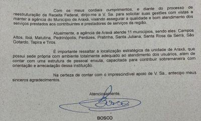Deputado Bosco luta pela manutenção da Receita Federal em Araxá